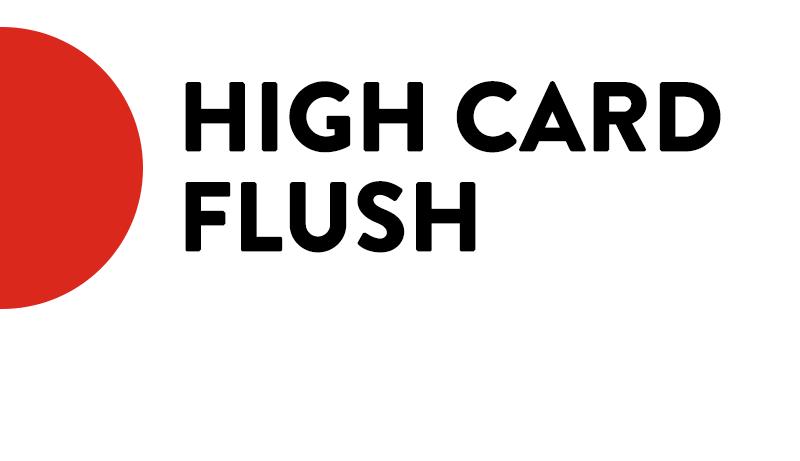 high card flush icon