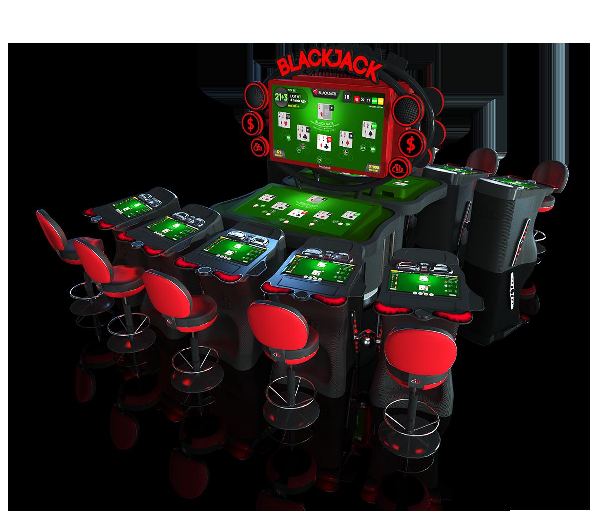 Electronic table game video blackjack